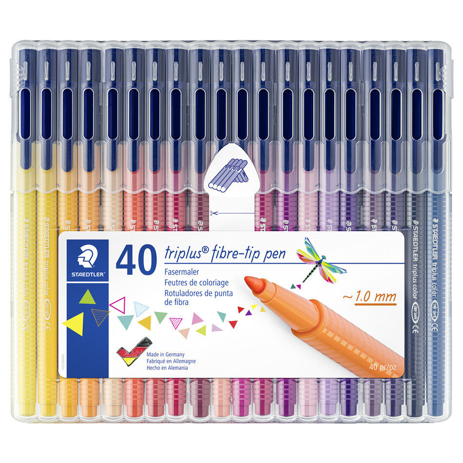 Staedtler 36 Triplus Fineliner Porous Point Pens Markers made in Germany NEW
