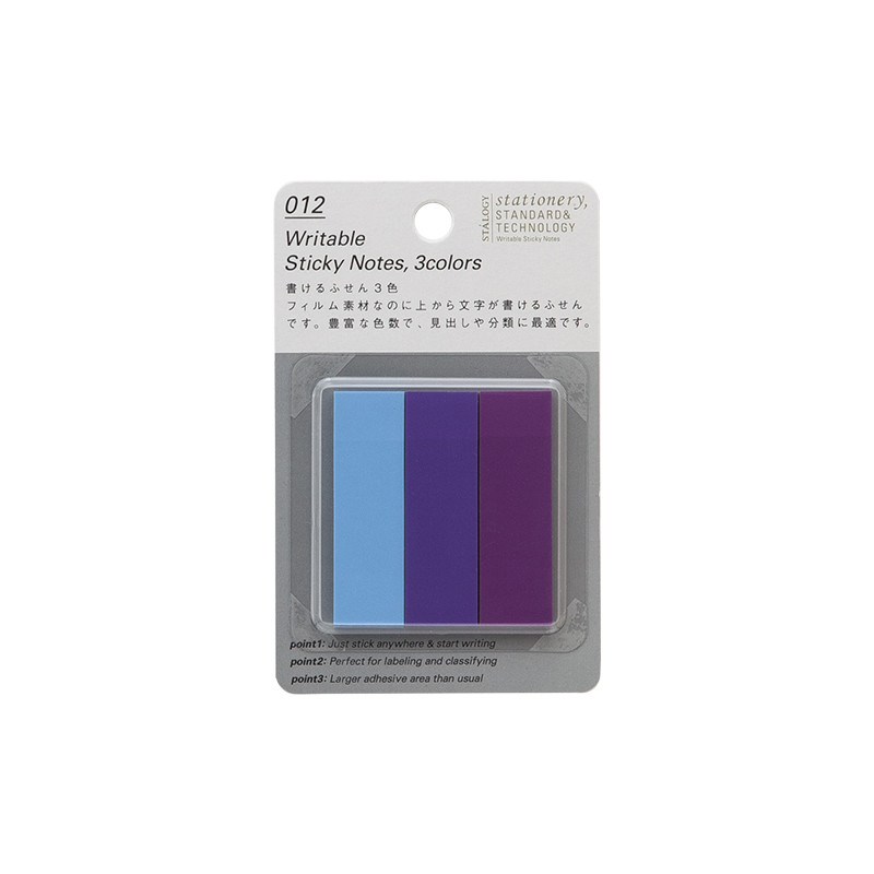 Stalogy Sticky Tabs Light Blue, Purple & Lilac