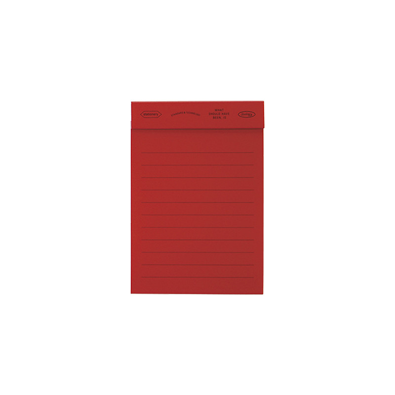 Stalogy Editor's Memo Pad Red Lined