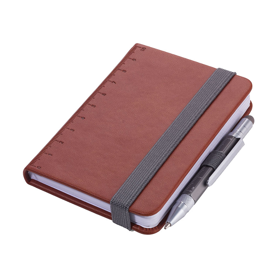 Troika Lilipad Notepad and Liliput Pen Brown
