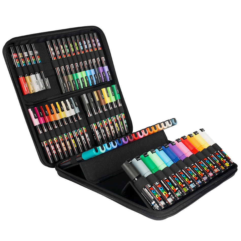 Uni Posca Marker Pen Set Of 60 Assorted Cult Pens