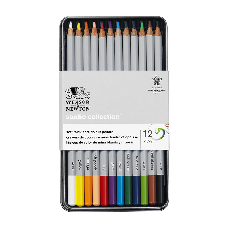 Winsor & Newton Studio Collection Coloured Pencils Assorted Tin of 12