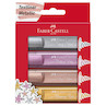 Faber-Castell Textliners 46 Metallic Highlighter Assorted Set of 4