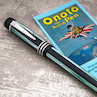 Onoto Pinstripe 18ct Gold Nib Fountain Pen University of Cambridge Blue