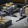 Parker IM Fountain Pen and Ballpoint Gift Set Black with Chrome Trim
