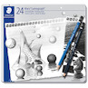 Staedtler Mars Lumograph Black and Blue Sketching Set of 24