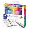Staedtler Triplus Fineliner Pen Assorted Box of 60 334C60