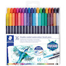 Staedtler Double-Ended Watercolour Brush Pens Set of 36